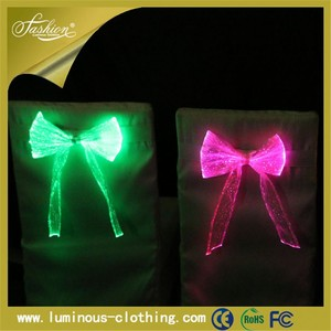 Led light changed optic fiber cloth decoration for party