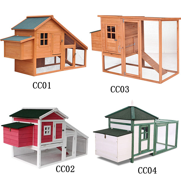 Factory high quality wooden chicken coop