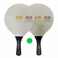 Best Price Hot Sale Adult Child Beach Paddle Bat High Quality Customized Logo Wood Beach Racket