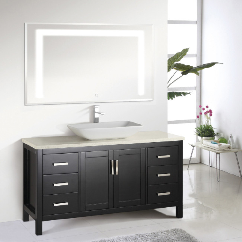 Modern Vanity Bathroom Cabinet With LED Mirror