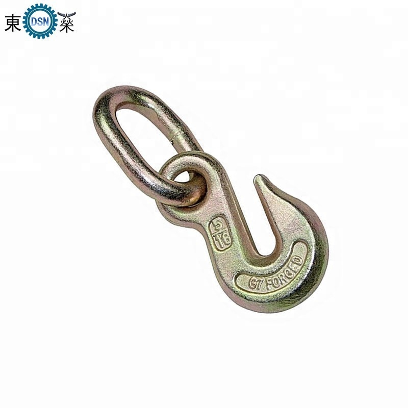 Wholesale and Customized High Strength Forging Alloy Steel Galvanized Industrial Eye Grab Hook