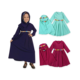 Beautiful Long Sleeve Dress For Arabic Little Girl 1-6T Abaya With Hijabs