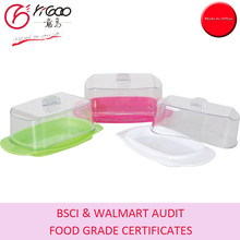 Cheap Square & Rectangular Cheese Keeper/Plastic Cheese Holder/PP Butter Container