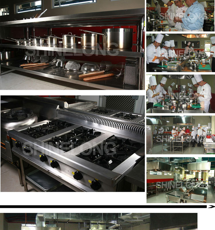 Shinelong Complete Range Professional Solution Chef School Kitchen Design Modern