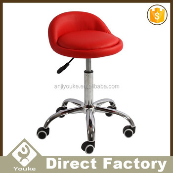 Superbe Modern Design Red Small Back Adjustable Stool With Wheels   Buy Adjustable  Stool With Wheels,Bar Stools With Wheels,Barber Chair For Children Product  ...