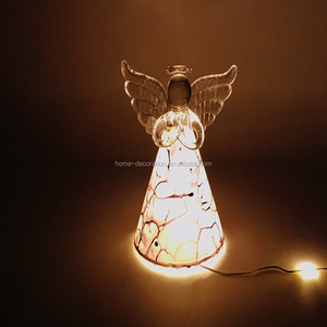 special design glass angel with led light manufacturer directly