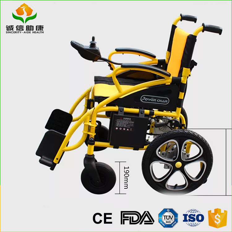 Cheapest folding power electric handcycle wheelchair electric for disabled people