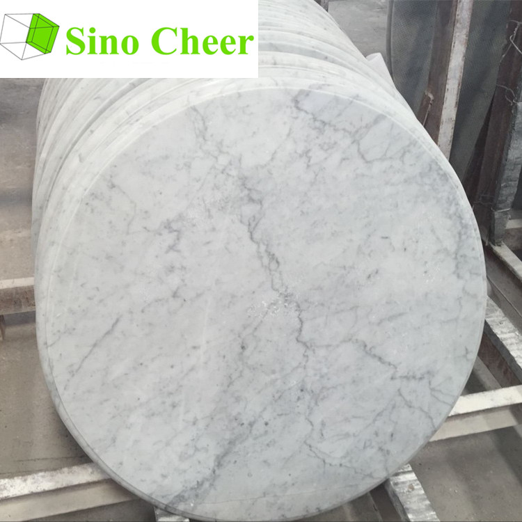 Factory Direct Round Carrara White Marble Table Top