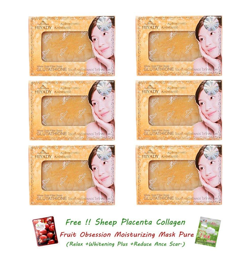 Buy 6 Units Of Hiyady Glutathione White Gold Collagen Filler Soap Korea Anti Acne Oil Control Clear