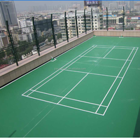 outdoor and indoor plastic rubber badminton court floor mat