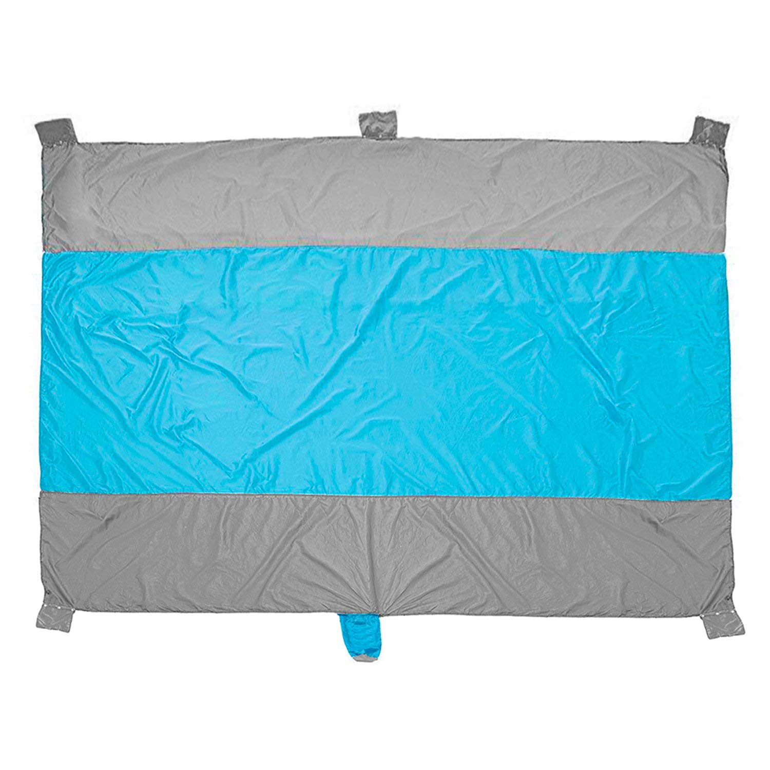 Muuttaa Sand Free & Waterproof Beach Blanket for Outdoor Camping, Festival, or Picnic | Portable Oversized Blue Mat