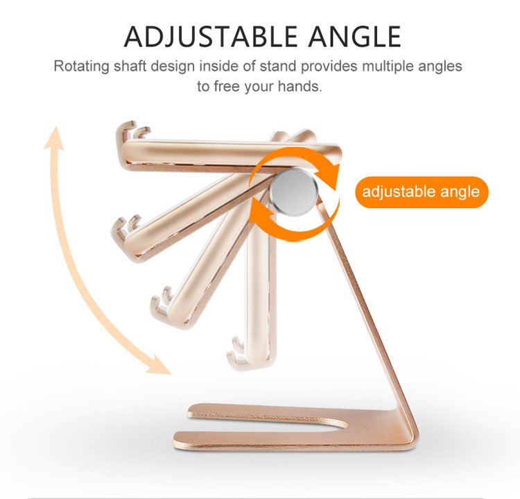 New design portable cell phone support flexible telephone mount standing aluminum alloy tablet pc desk stand for ipad