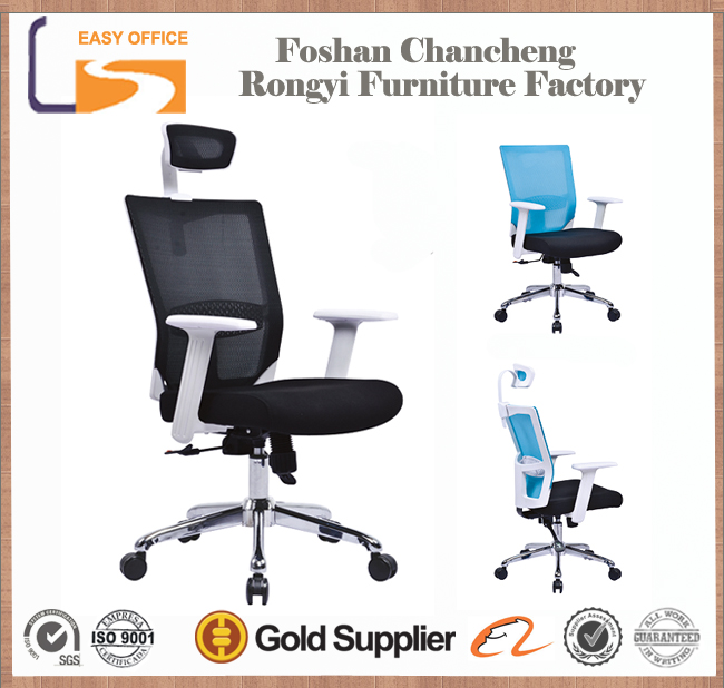 High-tech full mesh high back executive office table & chair