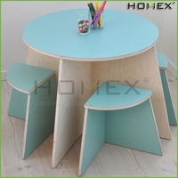Attractive round table and chair/ children table and chair /small wood stool/HOMEX