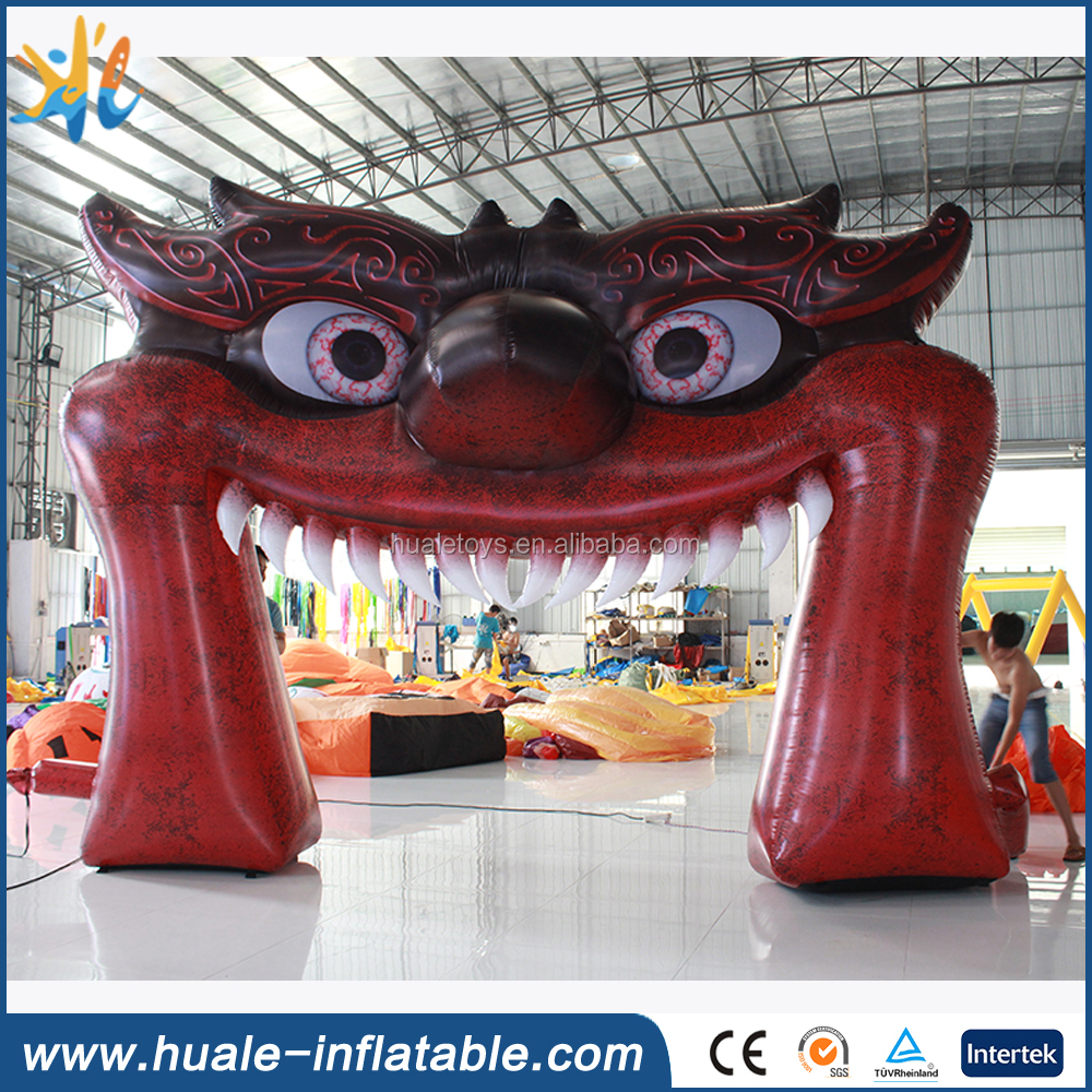 Giant inflatable monster mouth arch for sale