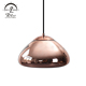 Modern Living Room chrome copper Hanging Lighting Ellipsoid Modern LED Oblate Pendant Light