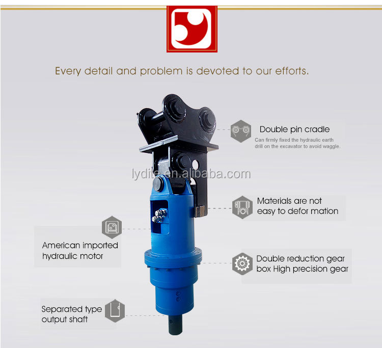 Screw piles ground anchor machine earth auger drill and drilling machine for sale