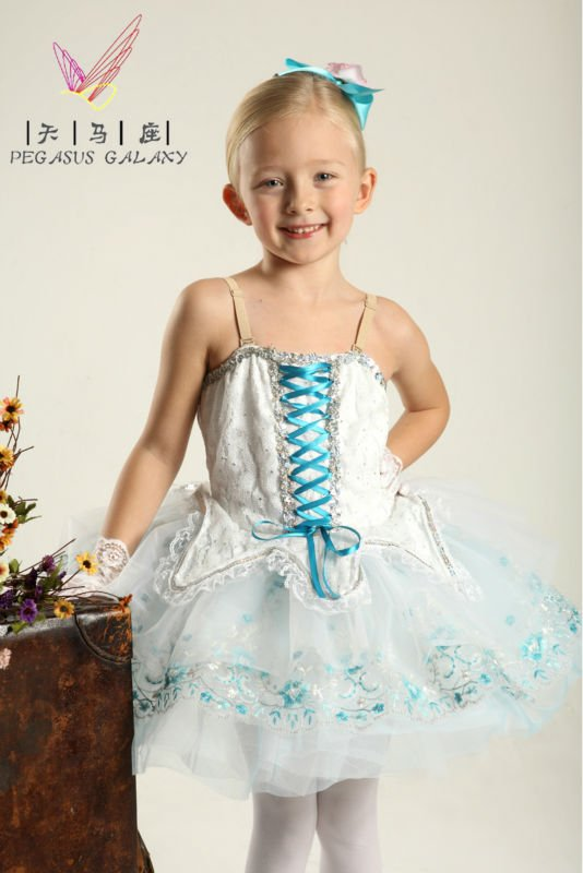 white princess prim dress for kids/girls ballet dress skirt exotic dance wear