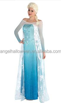 Frozen Adult Queen Princess Elsa Halloween Dress Costume Cosplay Party  Dress Agc2451   Buy Elsa Costume,Halloween Costume,Adult Elsa Costume  Product ...