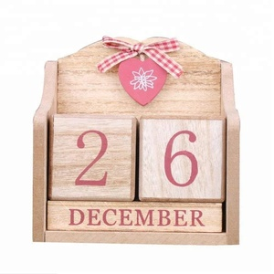Custom Wooden Cubes Perpetual Advent Calendar for Home Office Decor