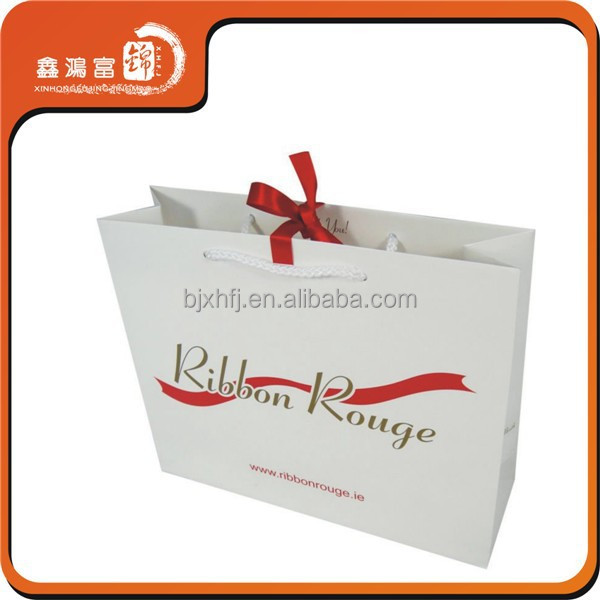 Custom logo white wedding dress packaging paper bag