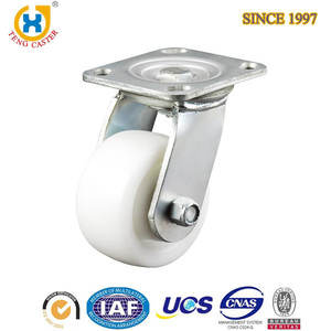 Heavy duty swivel caster 4 inch Nylon PA White Castors Casters Wheel for Industry sale
