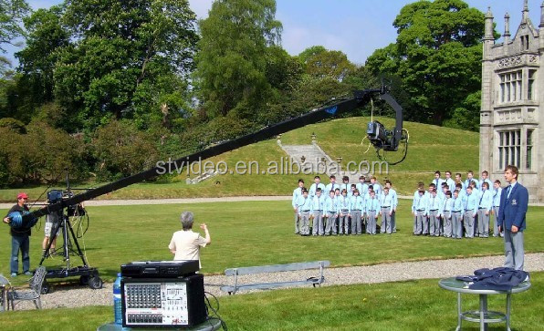 40ft 12m stanton  jimmy jib camera crane for shooting video 3-15m