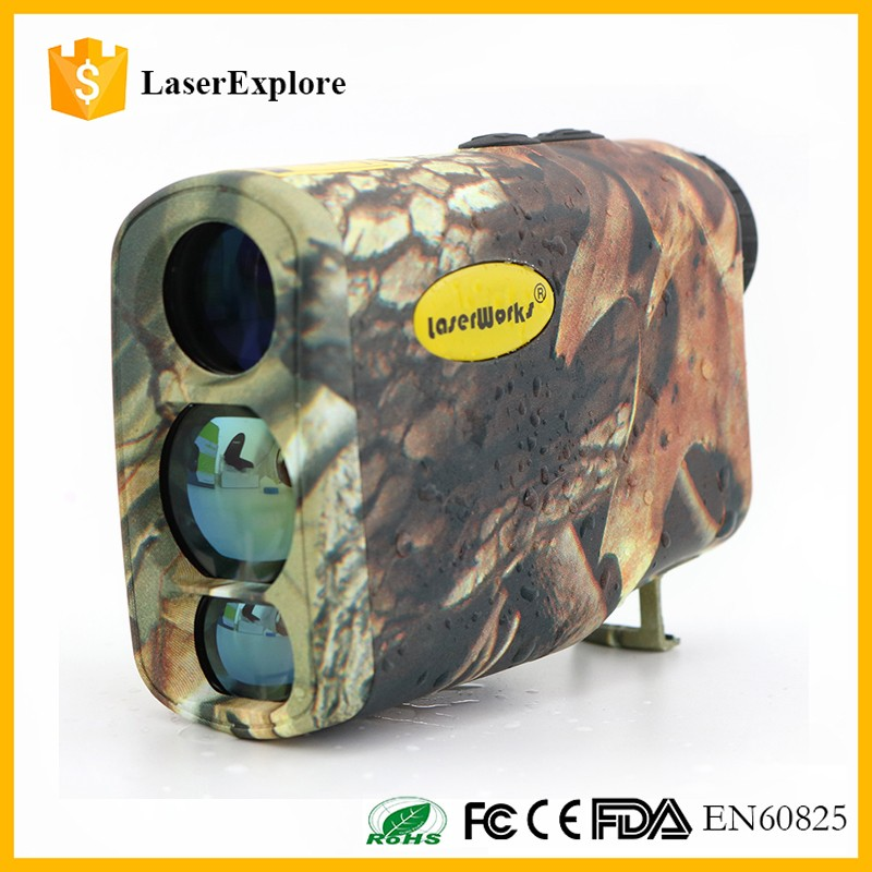 Color Customized Bionic Design Waterproof 5-600yards Camo Laser Rangefinder 6x21 for hunting and golf