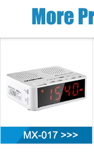 Home portable Night vision battery powered led alarm clock