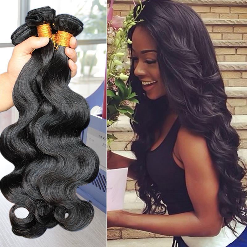Queen Hair Brazilian Body Wave Wet And Wavy Weave