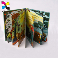 Wholesale thick paper book printing children's cardboard book with easy english story