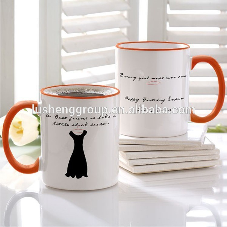 new fashionable stylish coffee mugs white with CE&ISO