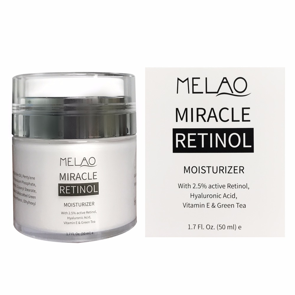 Melao Retinol Moisturizer Cream for Face and Eye Area - Anti Aging Formula Reduces Wrinkles, Best Day and Night Cream 1.7 Fl.OZ