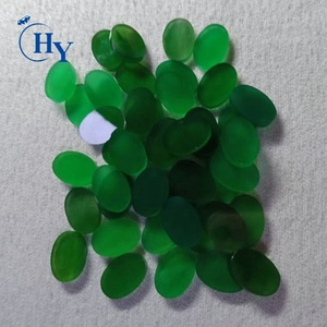 Wholesale loose flat gemstone natural green agate