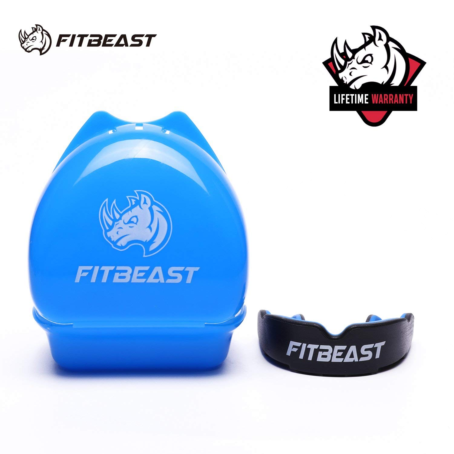 FitBeast Mouth Guard Sports Mouthguard Gum Shield for boxing, MMA, rugby, football, lacrosse, basketball, muay thai, hockey, karate martial arts and all contact sports, Youth & Adult Sizes With case