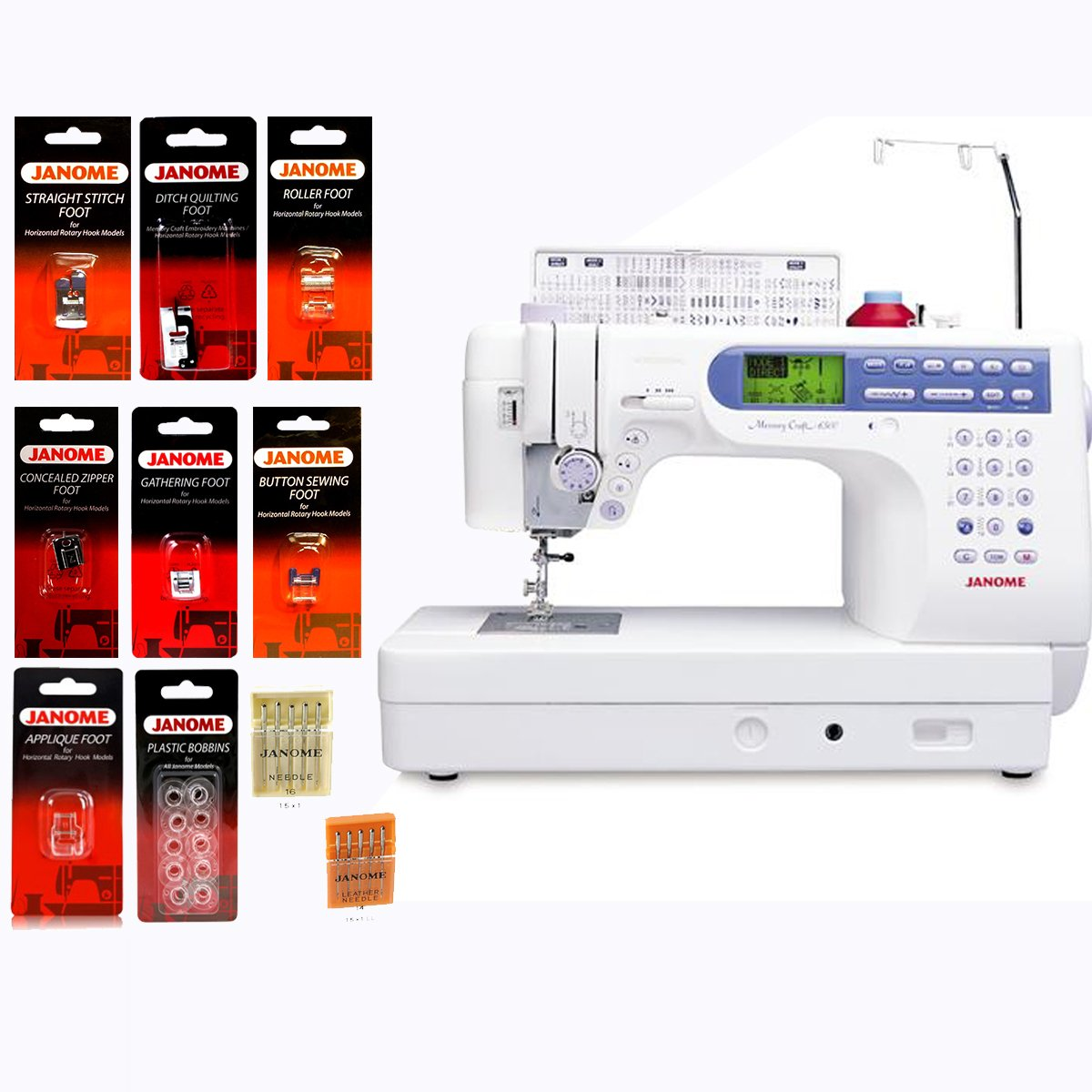 Get Quotations · Janome Memory Craft 6500P / MC6500P Computerized Sewing  Machine with Package