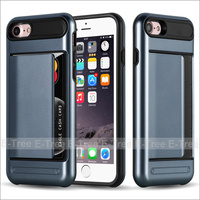 Hybrid Cover Armor Credit Card Mobile Phone Case For iPhone 7