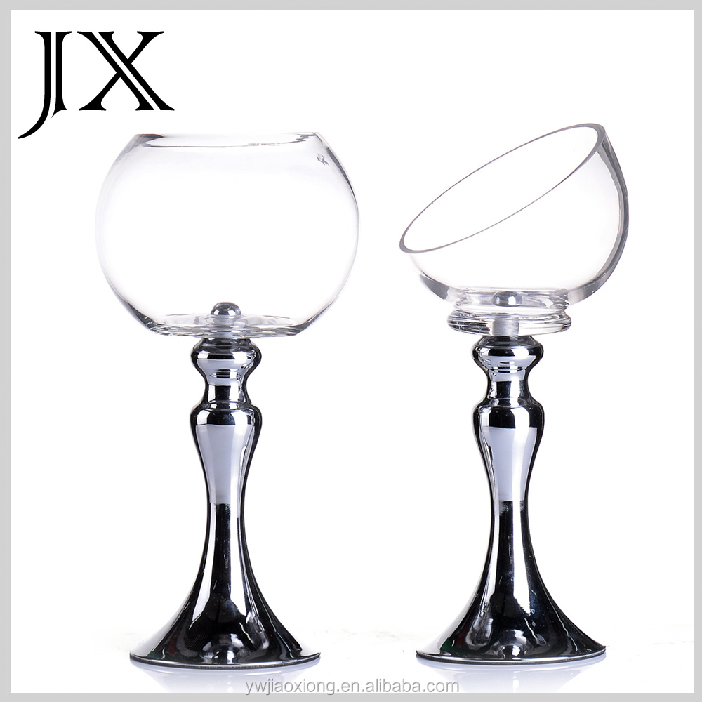 Soplado a mano claro tealight sostenedor de vela de - Fabricantes de cristal ...