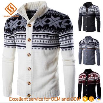 2017 winter custom christmas sweater man men longsleeve knit cardigan sweater - Custom Christmas Sweater