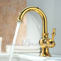 Ti-PVD Finish Solid Brass Bathroom Sink Faucet