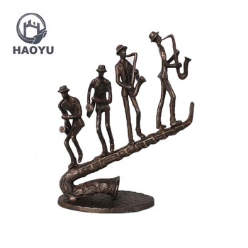 Vintage Abstract Famous Metal Art Bronze Saxophone Musician Sculptures -  Buy Abstract Metal Sculpture,Famous Metal Sculptures,Abstract Art Sculpture