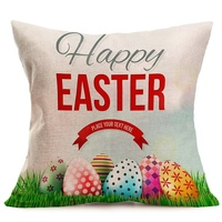 easter pillow home decoration bunny rabbit eggs pattern pillowcase easter gift
