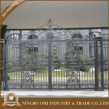 2016 Decorative Cast Aluminum Garden Gates Aluminum Courtyard Gate/Simple  Design Factory Price Decorative Aluminium