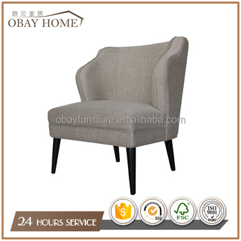 American Chesterfield Armchairs Antique Fabric armchairs Wooden Occasional Chairs for home Livingroom