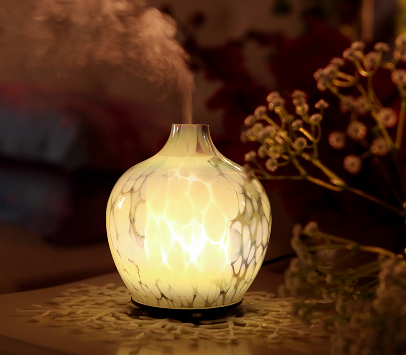 CE ROHS Aromatherapy Decorative Art Glass Ultrasonic Aroma Air Cool Mist Luxury Aroma Therapy Essential Oil Diffuser Aroma