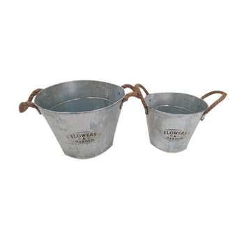 Western style iron flower pot for decoration