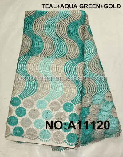 high quality african cord lace samples teal dress guipure lace fabric