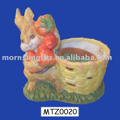 Newly Listed Polyresin Decorative Easter Rabbits Wholesale