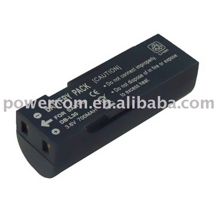 3.7v 700mAh Digital camera battery DB-L30 For Sanyo Xacti VPC-A5