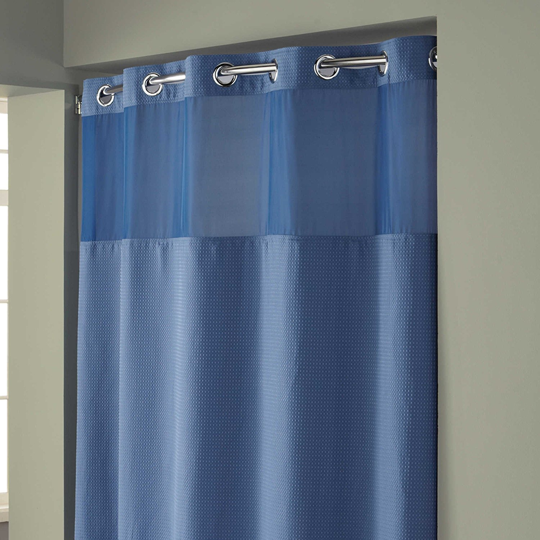 Buy Hookless Mini Waffle Fabric Shower Curtain Liner
